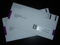 Postal vote envelopes