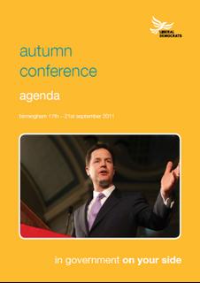 Conference agenda cover